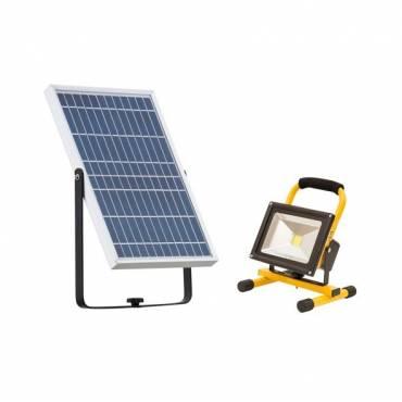 Proyector Led con carga solar, 20w.