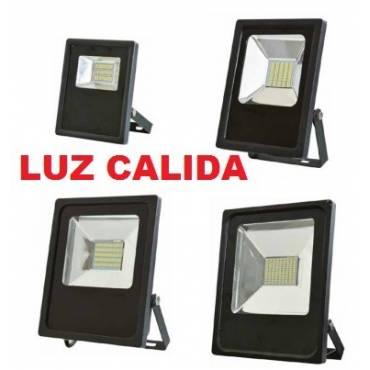 Proyectores led 10, 20, 30, 50w, luz calida.