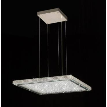 Lampara LED con detalles de cristal.