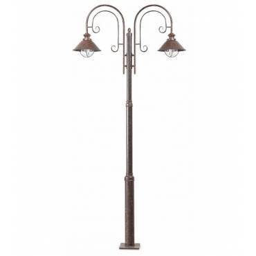 Lámpara farola NAUTICA-6 marrón óxido