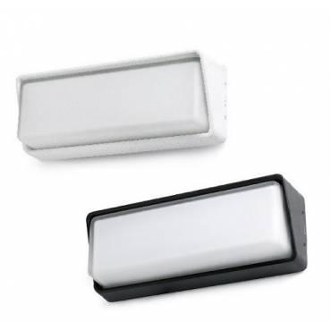 Lámpara aplique HALF LED blanco/negro