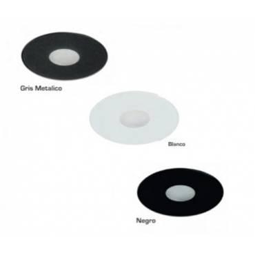 Foco empotrable circular, cristal en varios colores.