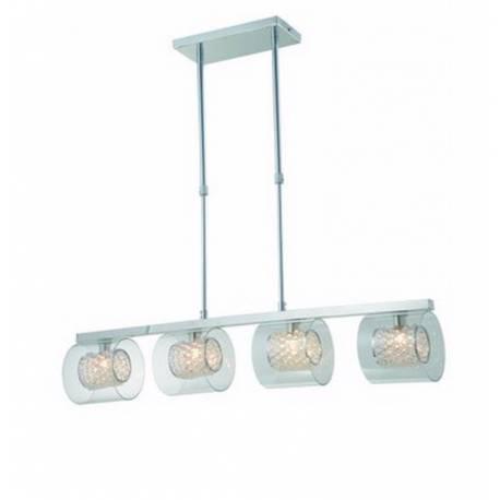Lámpara colgante en metal 4 luces