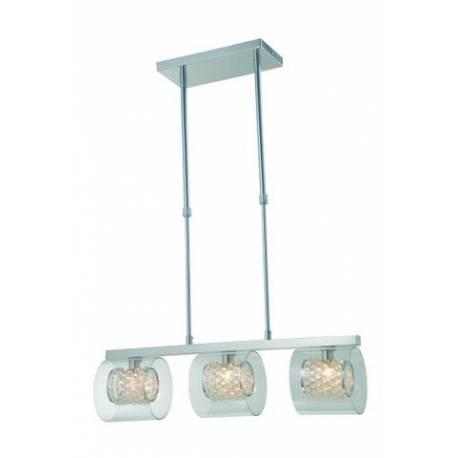 Lámpara colgante en metal 3 luces