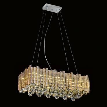 Lámpara colgante LED cristal rectangular