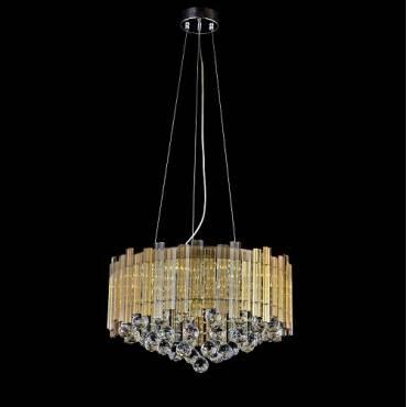 Lámpara colgante LED cristal redonda