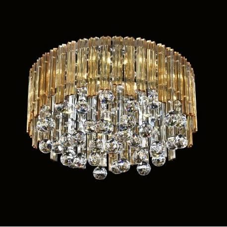 Plafón LED cristal redondo