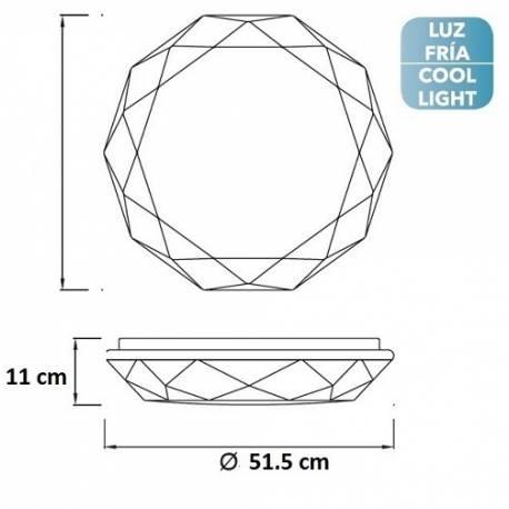 Plafón techo LED DIAMANTE II 54W