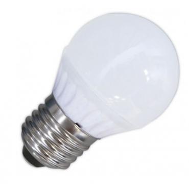 Bombilla esférica LED 10W E-27