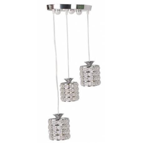 Lámpara Led 3 luces cromo